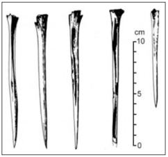 Simple bone points, used to make clothes, stopped being manufactured by Tasmanians even though people on the mainland continued to create them